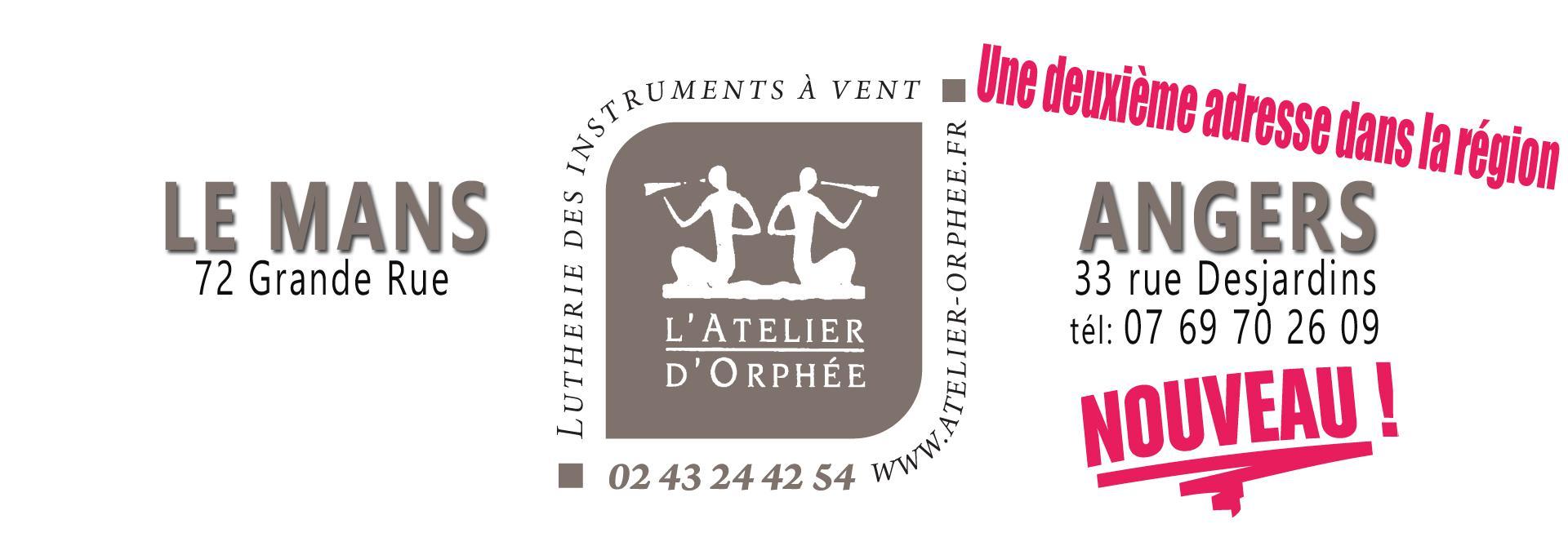 Atelier d'orphée atelier instruments à vent Angers